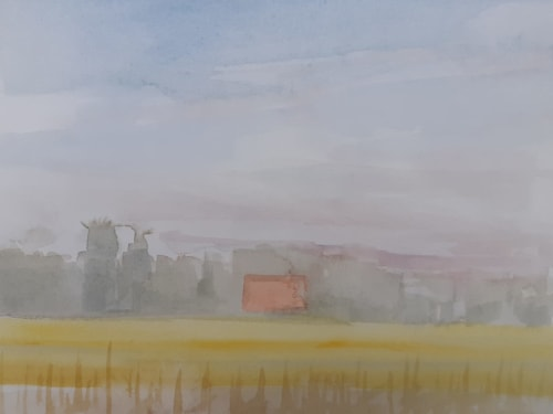 Paintings by Abraham Storer seen at Private Residence, Tarnowskie Gory - Series of Watercolors