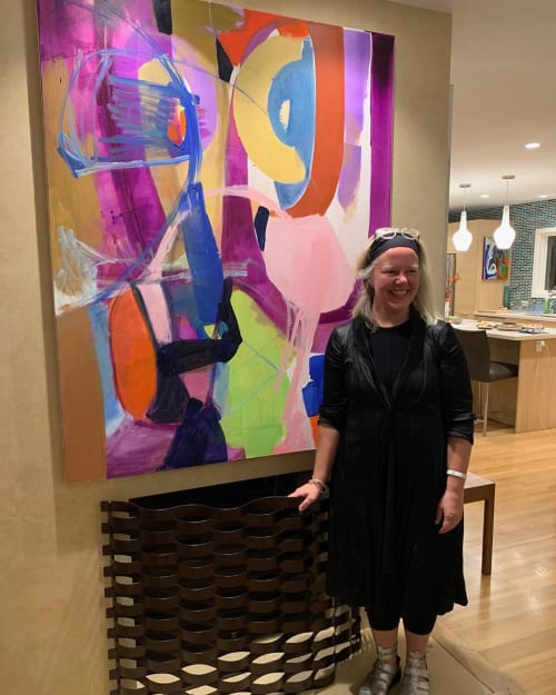 Paintings by Kari Kroll seen at Private Residence, Pasadena - Color Wheel Show