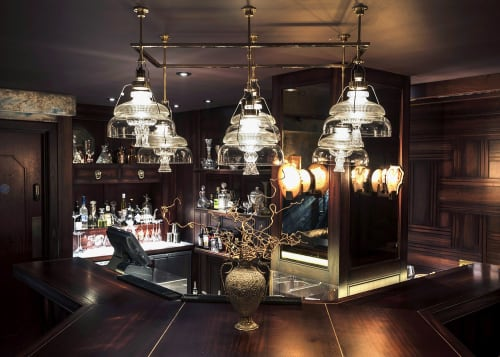Chandeliers by Vitro Lighting Designs seen at Tamarind Kitchen, London - 24T Chandelier