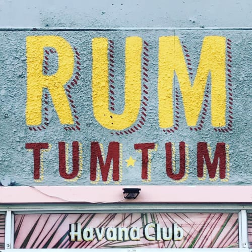 Signage by Cape Town Signwriting seen at Rum Tum Tum, Cape Town - Logo Sign