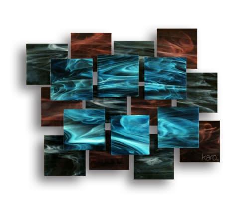 """Electric"" AP Glass and Metal Wall Sculpture | Sculptures by Karo Studios"