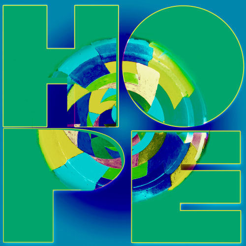 Photography by Joanie Landau seen at Eclectic Home, Greenwich - Ode to Robert Indiana: Hope Version 1