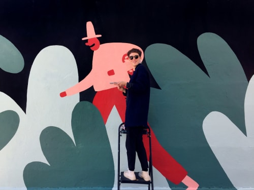 Murals by Cecile Gariepy seen at Avanaa Chocolat, Montréal - Avanaa Mural