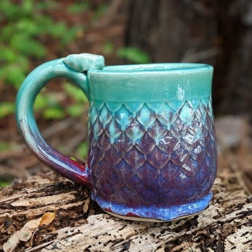 Cups by Anayansi Artworks seen at Private Residence, Orlando - Mermaid/Dragon Scale Mug