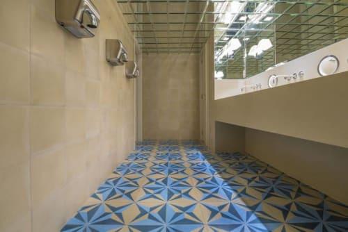 Tiles by Huguet Mallorca seen at Rialto Living, Palma - Cement Tiles and Washbasins