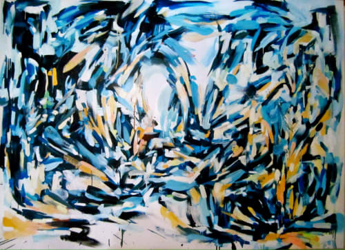 Paintings by Gretel Joffroy seen at Private Residence, Monterrey - Blue
