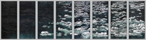 Art & Wall Decor by Rosemary Feit Covey seen at Portsmouth, Portsmouth - Ice Flow installation