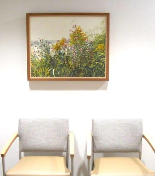 Paintings by Kathleen Krishnan seen at HealthPartners Neuroscience Center, Saint Paul - Hidden Beach