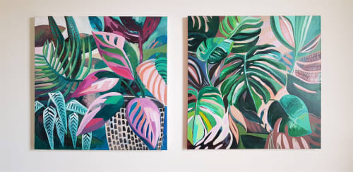 Paintings by Amy Kim seen at Private Residence, Melbourne - Summer Breeze Series