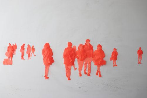 Sculptures by Harumi Ori seen at Tribeca, Manhattan, New York, NY, New York - I am Here, 270 Greenwich St, NY, Nov 19/2017, 11:48am