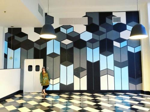 Murals by Sunny Mullarkey Studio seen at Sidewall Pizza, Spartanburg - Mural (Art deco)