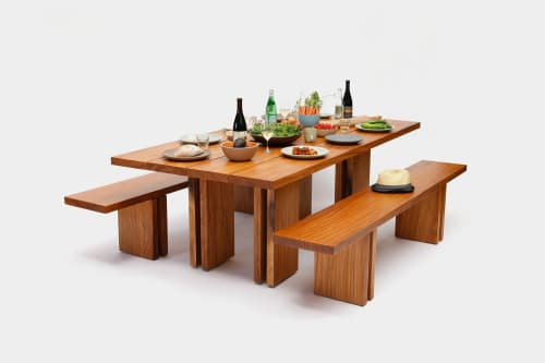 Tables by ARTLESS seen at Los Angeles, Los Angeles - Occidental Table + Bench