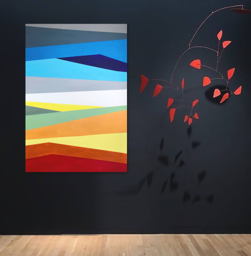 Paintings by Linnea Heide contemporary fine art seen at Asheville, Asheville - 'PRiSMATiC' original abstract painting by Linnea Heide