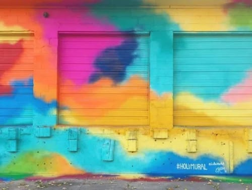 Street Murals by Liz Richter seen at 1110 Wilson Ave, Louisville - Holi Mural