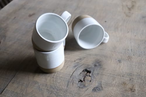 Cups by Ceramics by Charlotte seen at Private Residence, Maffe - White ceramic coffee cup