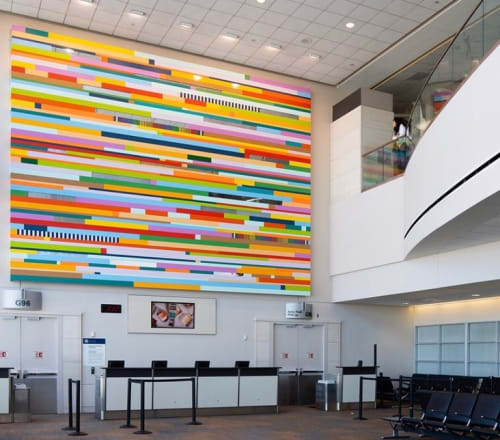 Paintings by Leah Rosenberg at San Francisco International Airport, San Francisco - Everywhere, A Color