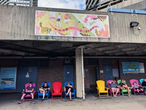 Public Art by Vivian Rosas seen at Toronto, Toronto - Summer Tide