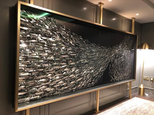 Wall Hangings by Daniel Byrne seen at Grosvenor Casino, The Barracuda, London - Surge