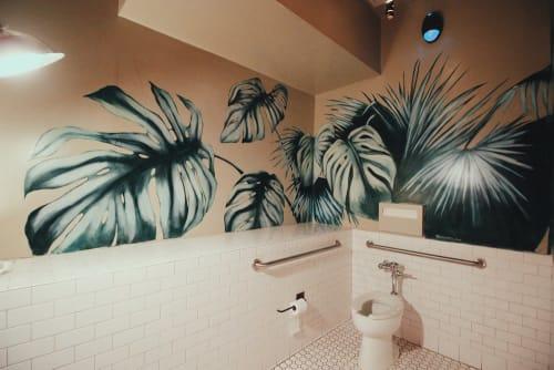 Murals by Charly Malpass Art seen at Jones, San Francisco - Palms Mural