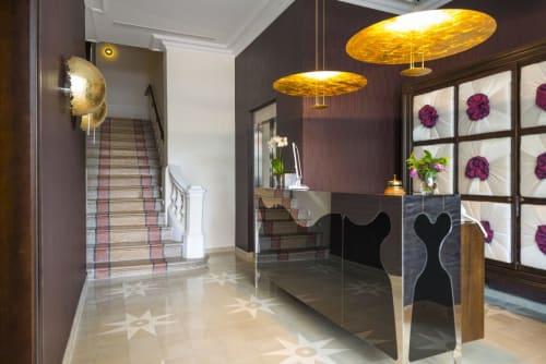 Tiles by Huguet Mallorca seen at Hotel Hostal Cuba, Palma - Bespoke Terrazza Stairs and Shower