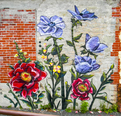 Art Curation by Courtney Haeick seen at Lockport, Lockport - Garden Mural