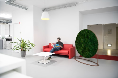 Interior Design by Greenmood seen at Trade Mart Brussels, Brussel - Design Collection in Mattel Office