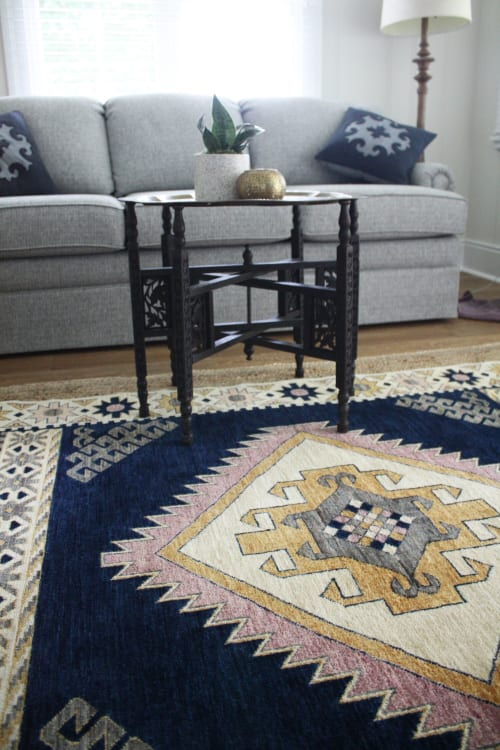 Rugs by Qadimi seen at Private Residence, Raleigh - Heriz in Mauve Afghan Persian Rug