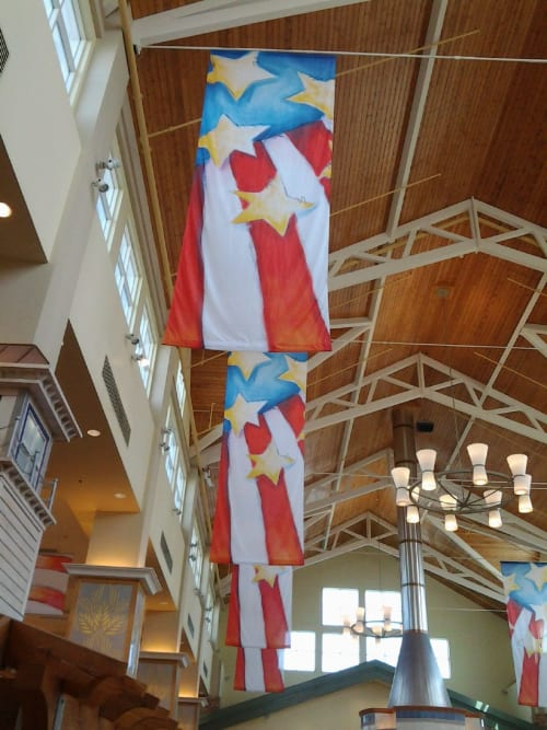 Wall Hangings by Emily Williams-Wheeler seen at West Acres Regional Shopping Center, Fargo - Holiday Banners
