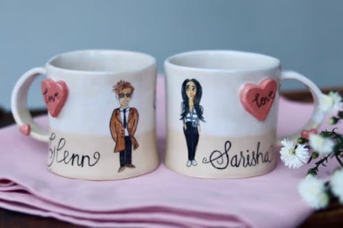 """Cups by Tarryn & Craig seen at Private Residence, Johannesburg - """"Some Love Stories Never End"""" Mug"""