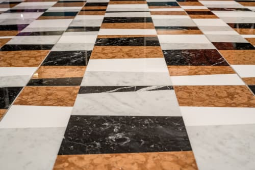 Tiles by Lithos Design seen at The Rise Osaka Kitashinchi, Osaka - Piano marble wall and floor covering