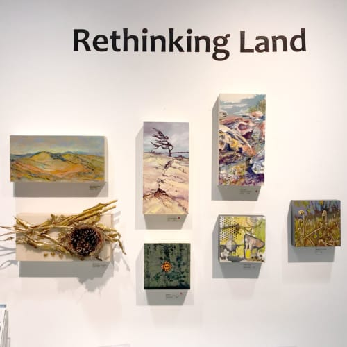 Paintings by Celina Melo seen at Quest Art School + Gallery, Midland - Rock Pools
