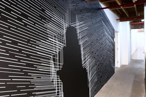 Murals by Katy Ann Gilmore seen at Cordesa Fine Art, Los Angeles - Parallel Divide