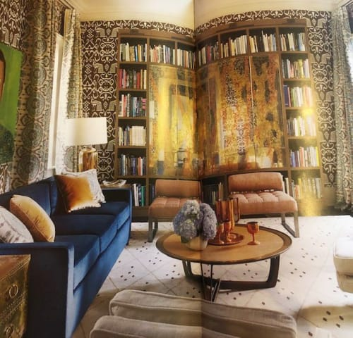 Art & Wall Decor by Vesna Bricelj seen at Private Residence, New Orleans - Verre eglomise (back gilded and painted glass) panels