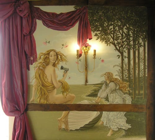 Murals by Jennifer Bell seen at The George Hotel of Stamford, Stamford - Botticelli murals