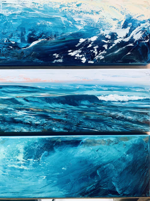 Paintings by Longoria Art seen at Private Residence, London - Deep Blue