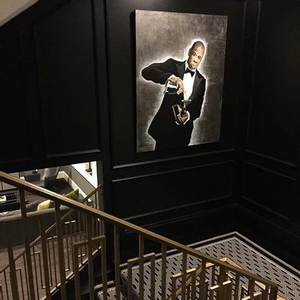 Paintings by Justin Hammer seen at Private Residence, Edina - Jay Z Painting