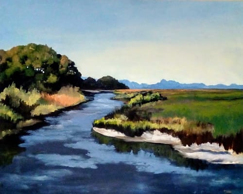 Paintings by Keith Doles seen at Baptist MD Anderson Cancer Center, Jacksonville - Asselta's Marsh