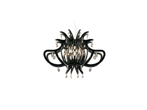 Chandeliers by Slamp seen at CityClass Hotel Residence am Dom, Köln - Medusa Black Suspension