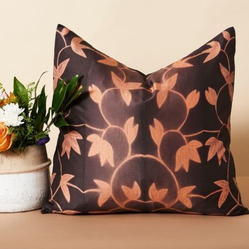 Folio Ebony Silk Pillow   Pillows by Studio Variously