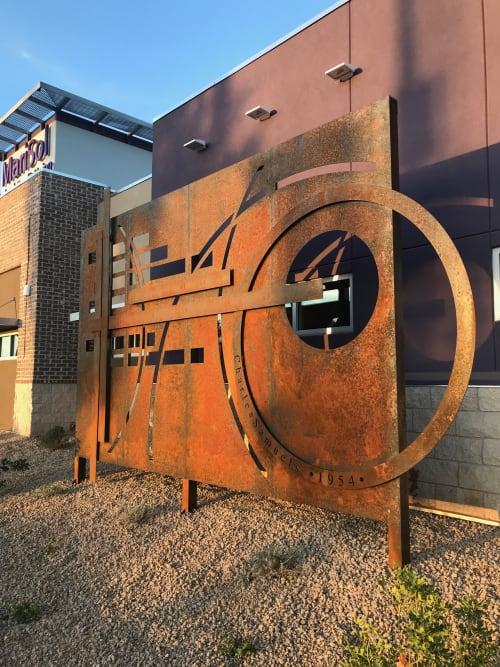 Public Sculptures by Daniel Moore-The Oxide Studio seen at MariSol Federal Credit Union, Phoenix - MariSol