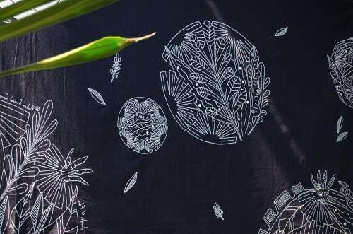 Wall Hangings by 「 花 花 世 界 」Fah Fah Sai Gai seen at Apex @ Henderson, Singapore - Jungle of Eden Batik