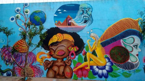 Street Murals by Mari Oliveira Visual Artist seen at Casa Verde Alta, Casa Verde Alta - Street Mural