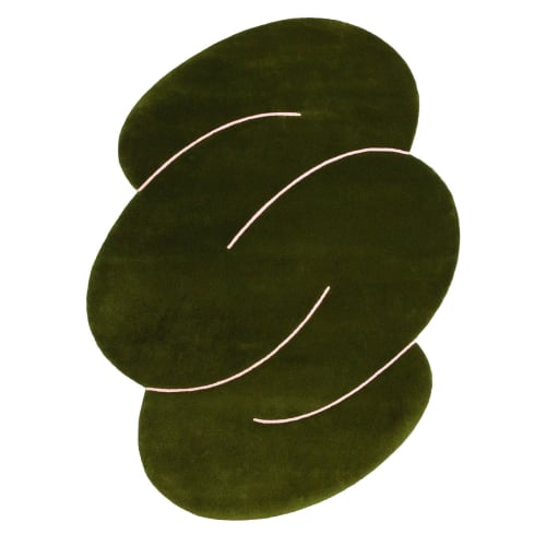 Rugs by Okej seen at Creator's Studio, Draper - Green Squiggle Rug