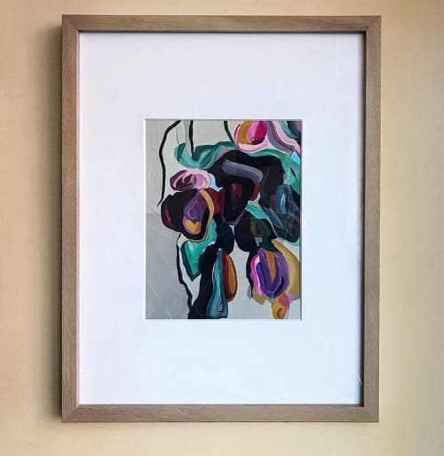 Paintings by Elisa Gomez Art seen at Wooden Spoon Cafe & Bakery, Denver - Abstract painting