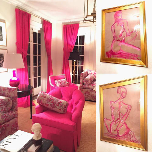 Paintings by Haley Mathewes seen at Private Residence, Charlotte - Figurative Painting