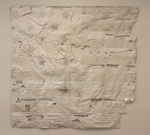 "Wall Hangings by Ryan Carrington seen at Art Ventures Gallery, Menlo Park - ""Star Spangled Banner"""
