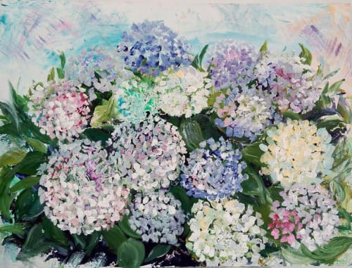 Paintings by Iryna Baklanova seen at Private Residence, Dnipro - Hydrangea Bloom