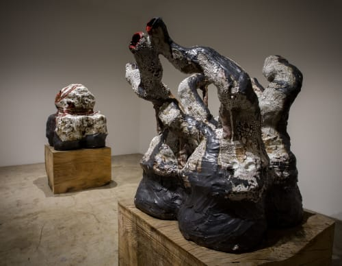 Sculptures by Galia Linn seen at Track 16 Gallery, Los Angeles - Come With Me V., Come With Me VI. 2018