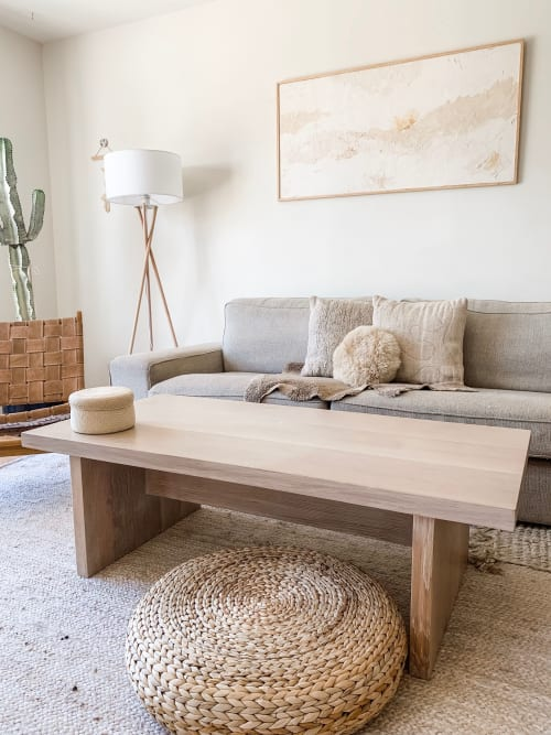 Tables by Michael Finizio | Fine Woodworking seen at Private Residence, San Francisco - White Oak Coffee Table