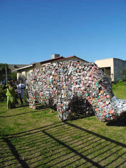 Art Curation by maria koijck seen at Port Alfred, Port Alfred - rhino